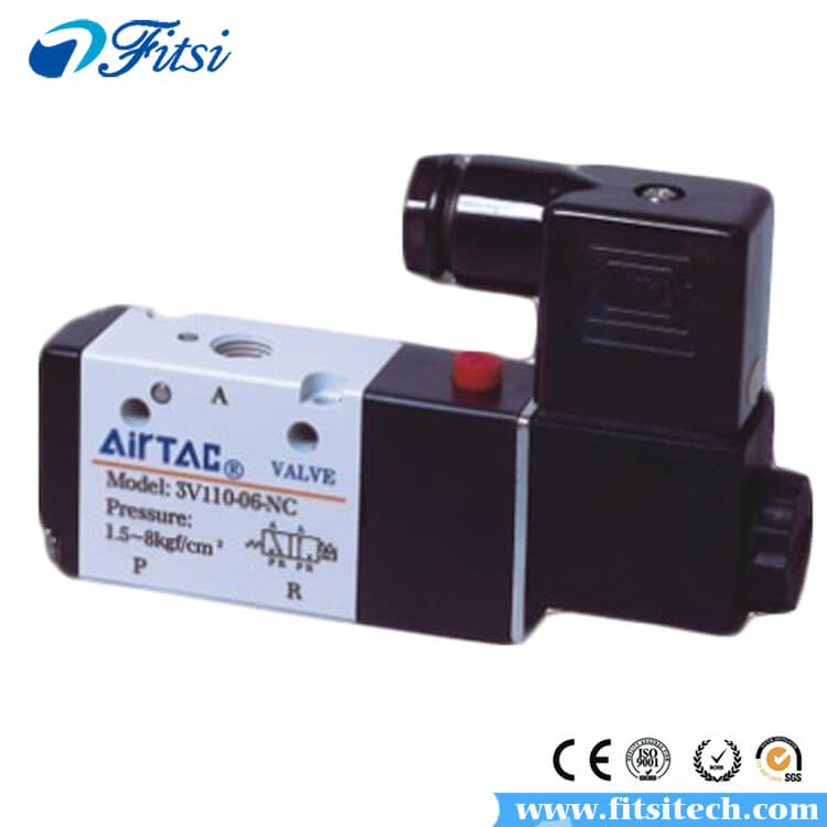 Single Head 2 Position 3 Way Solenoid Air Selector Valve 3V110-M5 3V120-M5 3V110-06 3V120-06