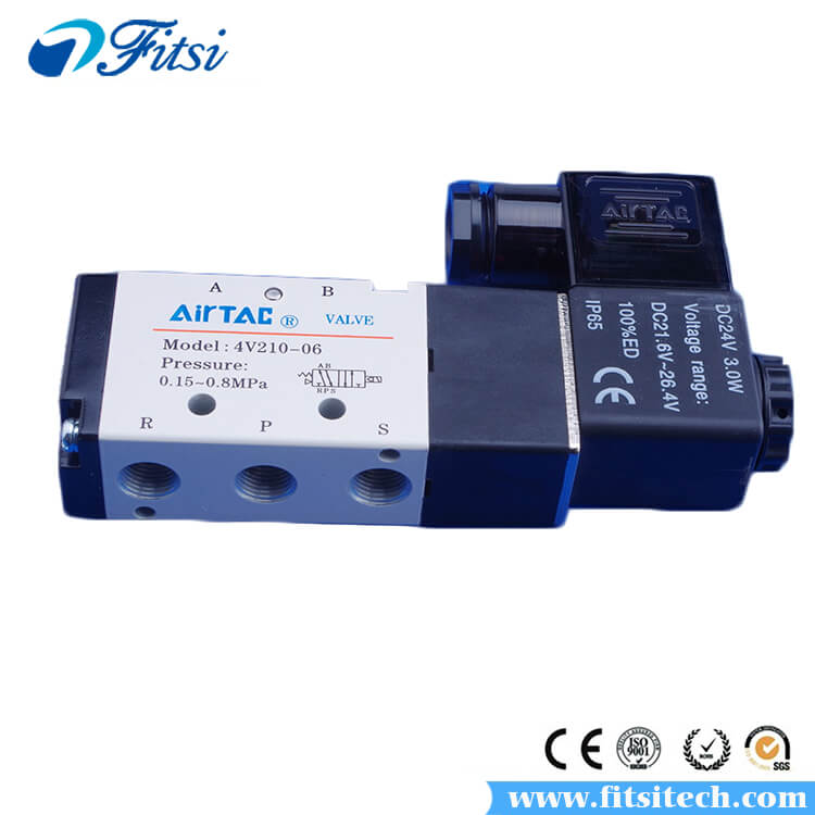 AirTAC 5 Way 3 Position Pneumatic Air Control Solenoid Valve 4V230C-06 4V230E-06 4V230P-06