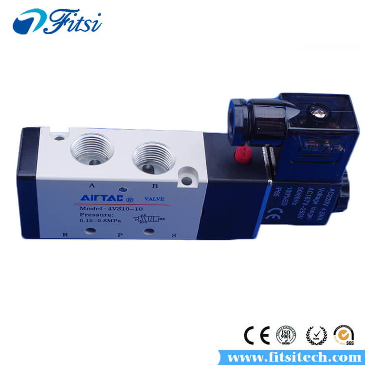 AirTAC 5 Way 2 Position Pneumatic Double Solenoid Air Valve 4V330C-08 4V330E-08 4V330P-08