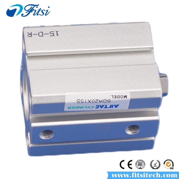 AirTAC SDA Type SDA12X55 SDA12X60 SDA16X5 SDA16X10 SDA16X15 Standard Thin Slim Compact Compressed Pneumatic Air Cylinder