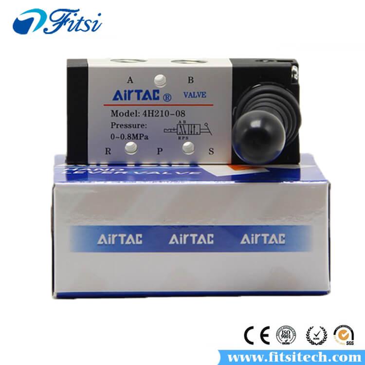 AIRTAC 4H210-08 5//2 Way Manual Lever Actuator Pneumatic Hand Pull Valve
